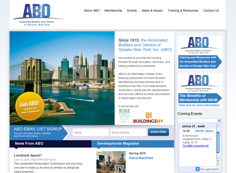Associated Builders and Owners of Greater New York, Inc. (ABO)