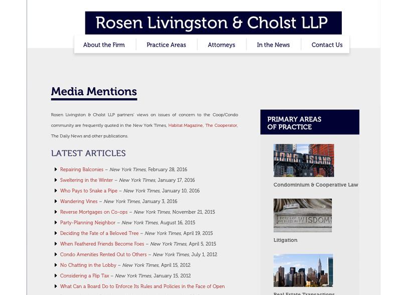 Rosen Livingston & Cholst LLP