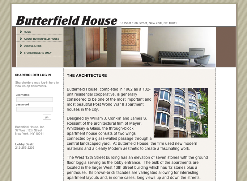 The Butterfield House