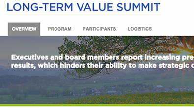 Long-Term Value Summit
