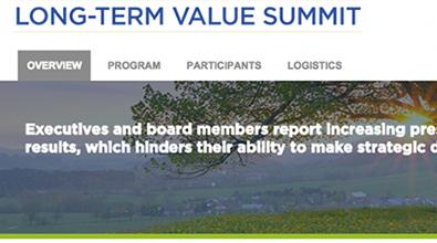 Long-Term Value Summit