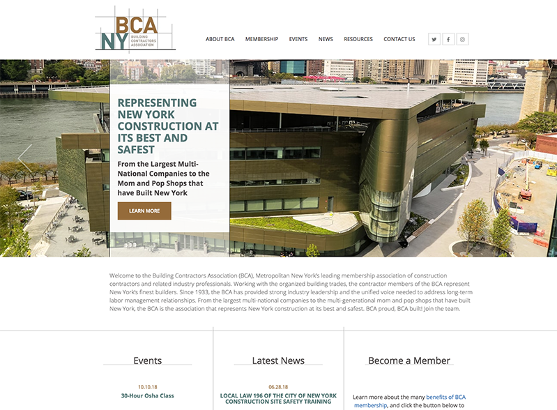 Latest to Launch: Building Contractors Association