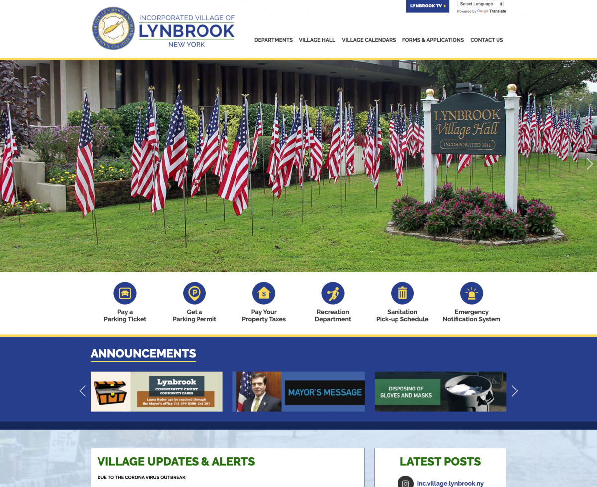 Latest to Launch: Incorporated Village of Lynbrook, NY